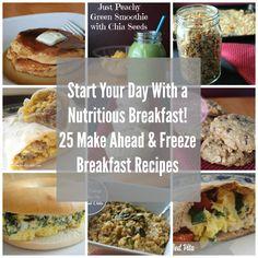 25 Make Ahead and Freeze Breakfast Recipes