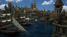 City Of Kargeth Docks by maty241 Minecraft projects Minecraft Minecraft mods