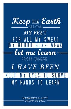Below My Feet. Mumford and sons