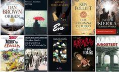 Libros más vendidos semana del 31 de octubre al 5 de noviembre en ficción