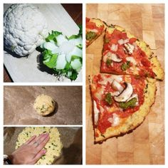 My cauliflower pizza base recipe on my blog now: www.sunnysideupsoph.com   From cauliflower to pizza in 30 mins!