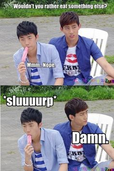 Kekeke...Wooyoung and Taecyeon