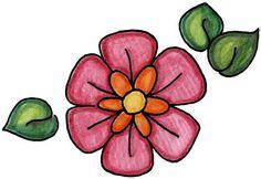 dibujos de flores para dibujar imprimir