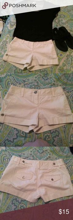 White shorts Great condition hardly ever worn don't fit me anymore size 2 Express Shorts
