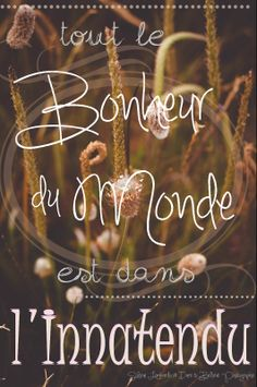 the happiness in life lies in the unexpected French Words, French Quotes, More Than Words, Some Words, Happy Quotes, Life Quotes, Beau Message, Believe, Jolie Phrase