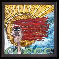 "I Show The Process Of Creating Mosaic Art With My Piece Named ""Onshore Annie"" 