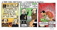 A short story about Europe - Les Indiens ont-ils une âme? Valladolid, Europe, Short Stories, Comic Books, Comics, Indian, Cartoons, Cartoons, Comic