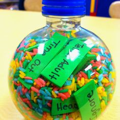 "I Spy using ""Coping Skills""! Materials: kids water bottle, colored rice, objects, glue (for the cap) Social Skills Activities, Counseling Activities, Therapy Activities, Art Therapy Projects, Therapy Tools, Play Therapy, Therapy Ideas, Elementary School Counseling, School Social Work"