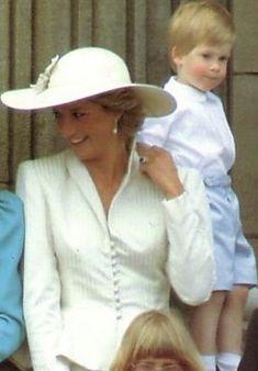Princess Diana and Prince Harry - 1987