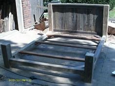 Handmade Rustic & Log Furniture Good Start To Finishing A Queen from Fence Bed FrameFence Bed Frame - A lot of Rustic Log Furniture, French Country Furniture, Living Furniture, Bed Furniture, Furniture Ideas, Outdoor Furniture, Diy Bed Frame, Bed Frames, Reclaimed Barn Wood