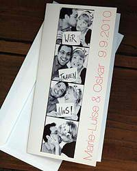 Hochzeitseinladungen selber basteln - Hochzeit