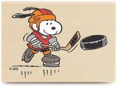 Snoopy Playing Hockey