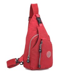 SHENGXILU Chest Bag, AMA(TM) Men Women Sports Running Nylon Waterproof Cross Body Shoulder Belt Chest Pack Handbag Sling Hiking Satchel Small Bagpack (Red). Material:Washed Cloth. Size:16cm*4cm*30cm. Capacity: Backpack: 10 L. Perfect for running, cycling, hiking and other outdoor pursuits. One large main compartment, a second smaller compartment and a third small compartment ideal for storing your keys, phone etc,Tough and durable.