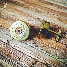Brass Shotgun Shell Cuff Links - Groom fashion accessories (*Amazon Partner-Link)