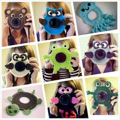 Crochet Owl Camera Lens Buddy - Etsy $14.50   @Ashley Bateman You may already know about this but I saw it and immediately thought of you!!  :)