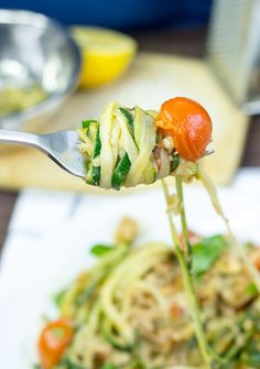 Low Carb High Taste Zoodles #vegetarian #zucchini   hurrythefoodup.com
