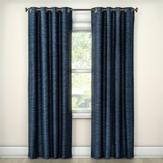 Find the perfect combination of fashion and function with the Eclipse Tara Stripe Blackout Curtains. Eclipse offers a complete line of functional curtains that provide privacy, manage light, reduce noise, and help with energy savings, without sacrificing the latest looks in window fashion. These panels feature a tonal, textural stripe. A layer of thermal foam backing provides light blocking, noise reducing, and energy saving benefits. Each panel measures 50 inches wide in your choice of 63…