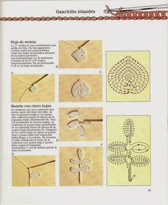 Riviste Crafts gratis: Introduction to Crochet III Freeform Crochet, Irish Crochet, Crochet Motif, Crochet Patterns, Crochet Leaves, Crochet Flowers, Crochet Quilt, Irish Lace, Needlework