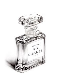 Chanel No5 Perfume Bottle A5 Colour Pencil Drawing Limited Edition Print by DominiqueKirkby on Etsy https://www.etsy.com/listing/190024357/chanel-no5-perfume-bottle-a5-colour