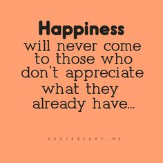 Those who don't appreciate...