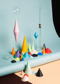 styling - paper shapes http://decdesignecasa.blogspot.it