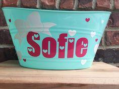 Custom Personalized Birthday Bucket  Name by brownpaperpackaging