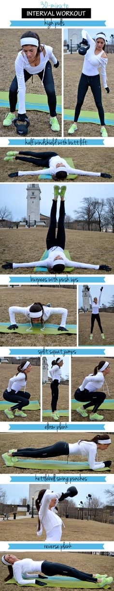 30-Minute Interval Workout via pumpsandiron.com
