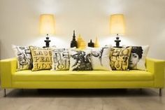 yellow leather.  This is exactly like my grandmothers couch in New York.  Love it.