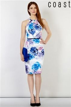 Buy Coast Macino Cotton Sateen Print Dress from the Next UK online shop