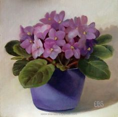 Still Life in Oils, Paintings by Elaine Brady Smith. Still Life in Oils, Daily Paintings Watercolor Flowers, Watercolor Paintings, Sweet Violets, Plant Painting, Botanical Drawings, Pictures To Paint, Acrylic Art, Pansies, Cool Artwork