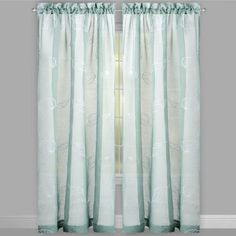 One of my favorite discoveries at ChristmasTreeShops.com: Seashell Embroidered Window Curtains, Set of 2