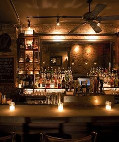 BUA bar. The first bar I fell in love with in NYC. Owners have gone on to establish two others (Wilfie and Nell) and they all have this great rustic ambiance. I sat next to Clive Owens once whilst drinking a pickle martini