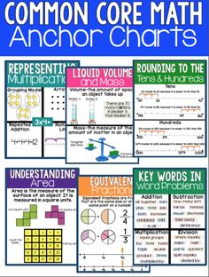 These common core math anchor charts will greatly help your instruction to be clear and concise for all your students.  Written in a way for all students to understand along with a picture, your students will be able to take their understanding of math concepts to the next level!