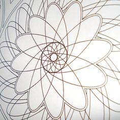 A close up of part of Pattern 4. Whirling Garden. A printable colouring page