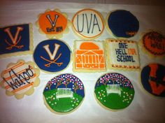 University of Virginia Cookies by amberwalk on Etsy, $20.00