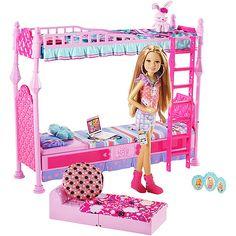 Barbie Sisters Sleeptime! Bedroom for 3 Play Set - Sara - $27.99 Walmart