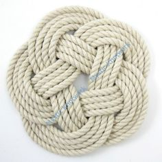 Nautical Coasters or Trivet Woven Turks Head Natural Cotton via Etsy  $14