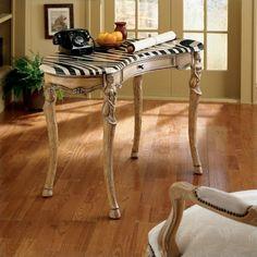 butler specialty heritage zebra wood writing desk in light wood - 0603070