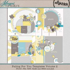 Falling for You Templates Volume 2 by Meagan's Creations