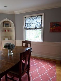 Cheerful Gray Dining Room Benjamin Moores AC 28 Smoke Embers