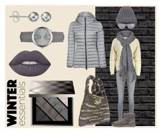 """""""Winter Grays"""" by nadiasknits ❤ liked on Polyvore featuring AG Adriano Goldschmied, malo, UGG Australia, Burberry, Shades of Grey by Micah Cohen, prAna, French Connection, Lime Crime, Journee Collection and Colmar"""