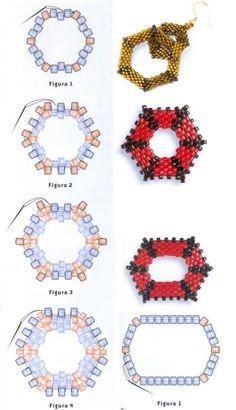 Схема плетения шестиугольника