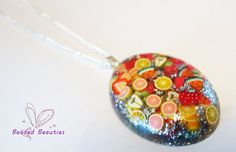Resin Necklace on a silver plated chain 18 by SBeadedbeauties, £10.00