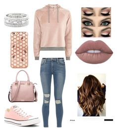 """Untitled #1318"" by glamor234 on Polyvore featuring Topshop, Frame, Converse and Sole Society"