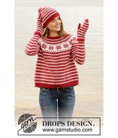 Jul - Tema - Strikkepakker Jumper Knitting Pattern, Jumper Patterns, Mittens Pattern, Knitting Patterns Free, Knit Patterns, Free Knitting, Start Knitting, Finger Knitting, Knitting Machine
