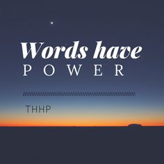 On the power of words.
