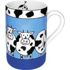Featuring a row of cute cows, the Animal Stories Cow Mug is a definite mood booster for your next coffee break.
