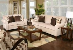 """Reese 5 piece living room 92"""" sofa.  KANES  Sofa $499 and loveseat $479."""