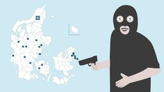 BANKRØVERI. GRAFIK Her slog bankrøverne til De seneste fem år er antallet af bankrøverier faldet fra 121 til 21, og det gælder i hele Danmark. Se den positive udvikling på kortet. D. 7/1 2015