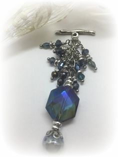 Sparkling Interchangeable Lampwork Glass & Faceted Crystal Beaded Pendant. Attach to available Stainless Steel or Leather Chains. See Complete Collection Today!